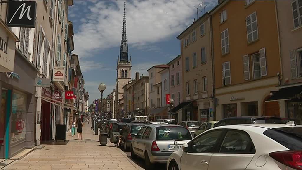 Gros plan sur la ville de Villefranche Sur Saone