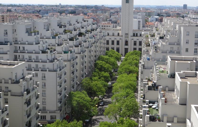 Gros plan sur la ville de Villeurbanne